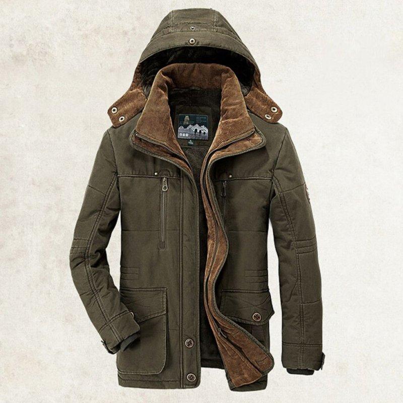 Зимняя военная униформа, куртка для мужчин с капюшоном