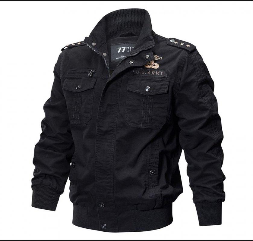 Зимняя тактическая куртка в стиле милитари армии США.