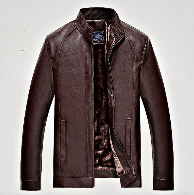 Модная теплая меховая кожаная куртка для бизнеса и туристов