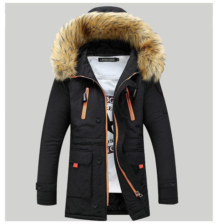 41c0ebc1cd4a Модные молодежные, теплые мужские зимние куртки-парки с капюшоном. nbs