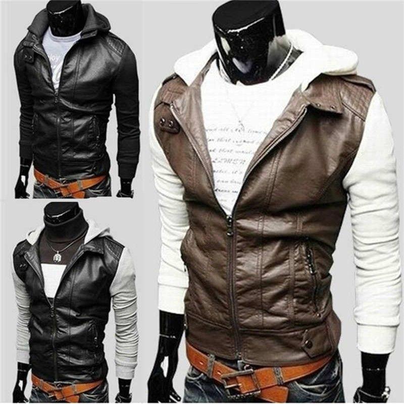Модные мужские кожаные куртки в стиле-(рок).