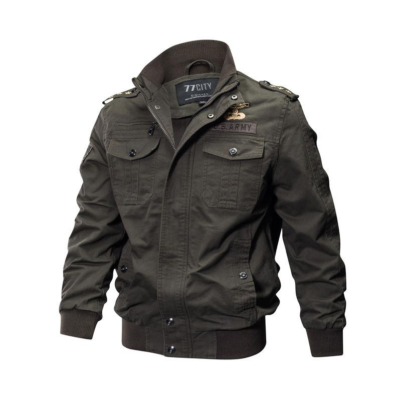 Мужская летная куртка пилота, военная униформа-(Air).