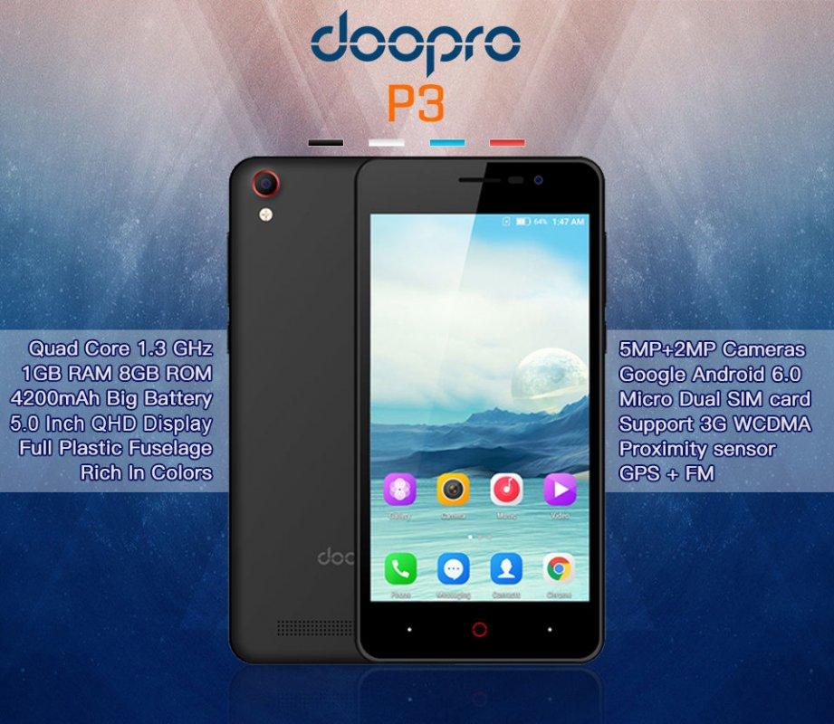 Оригинал . Смартфон Doopro P3-(Корея)
