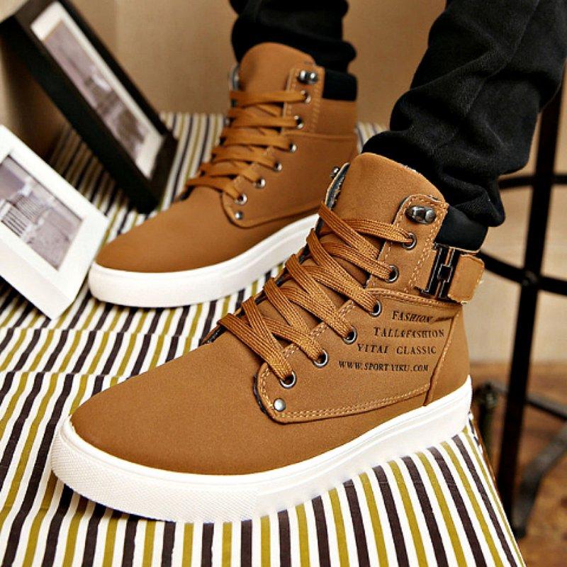 Зимние, теплые, мужские, водонепроницаемыекожаные ботинки-(Botas).