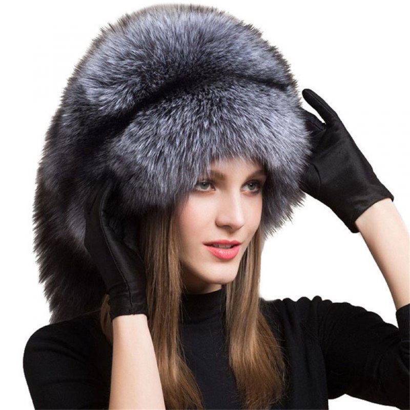 Зимние, женские, модные шапки для женщин из шкуры монгольской лисы.