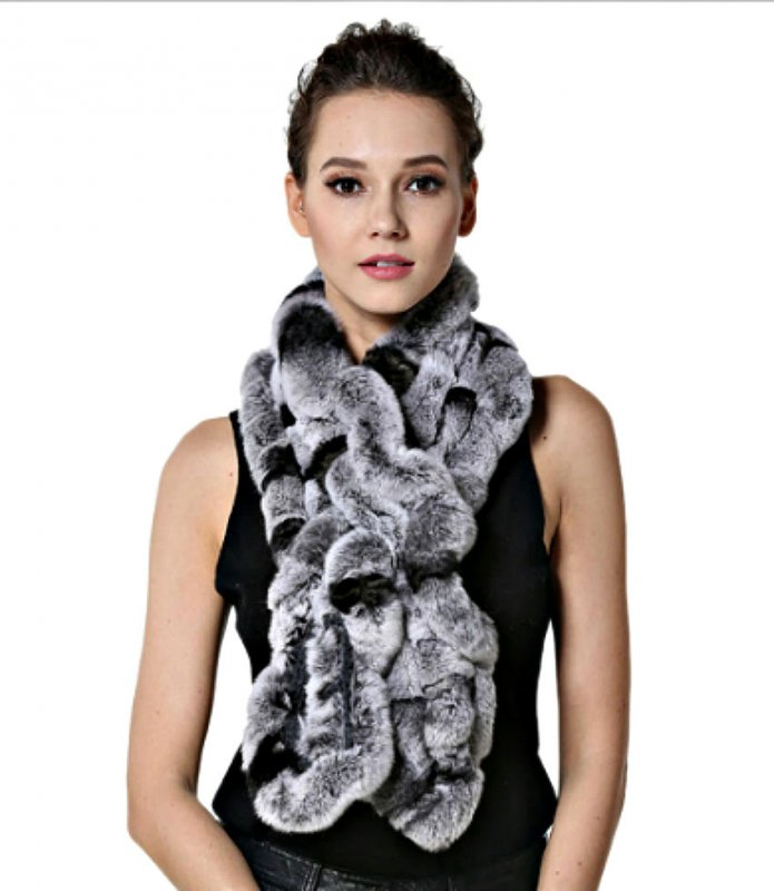 Меховой шарф из натурального кролика.