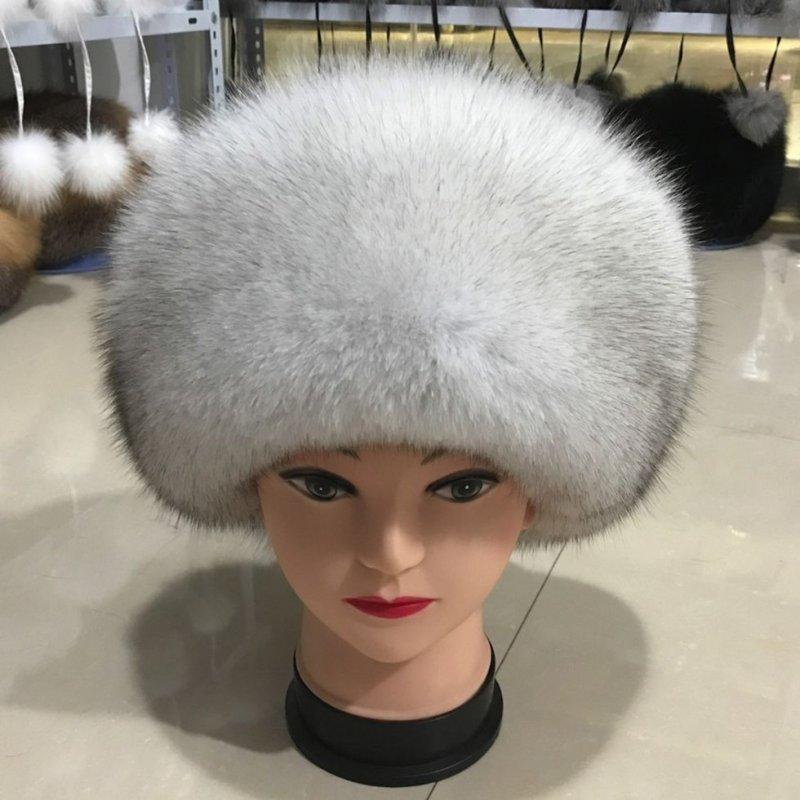 Роскошные зимние, утепленные шапки с Российского природного, натурального лисьего меха.