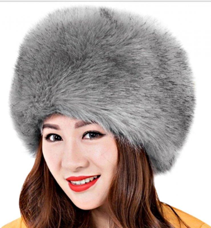 Элегантные, меховые, женские, зимние, теплые шапки из искусственного меха.