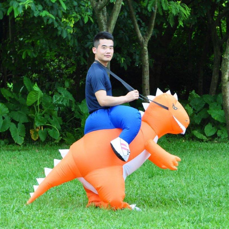 Карнавальные надувные костюмы динозавра, дракона для взрослых и детей (t rex, Dino Rider)