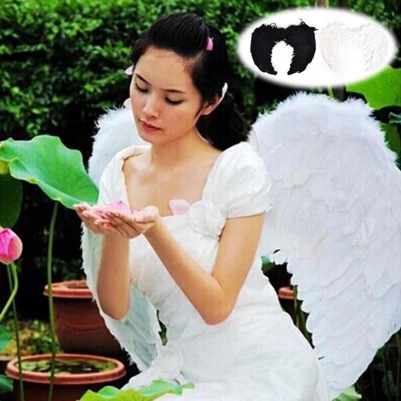 Карнавальный костюм ангела с перьев для женщин