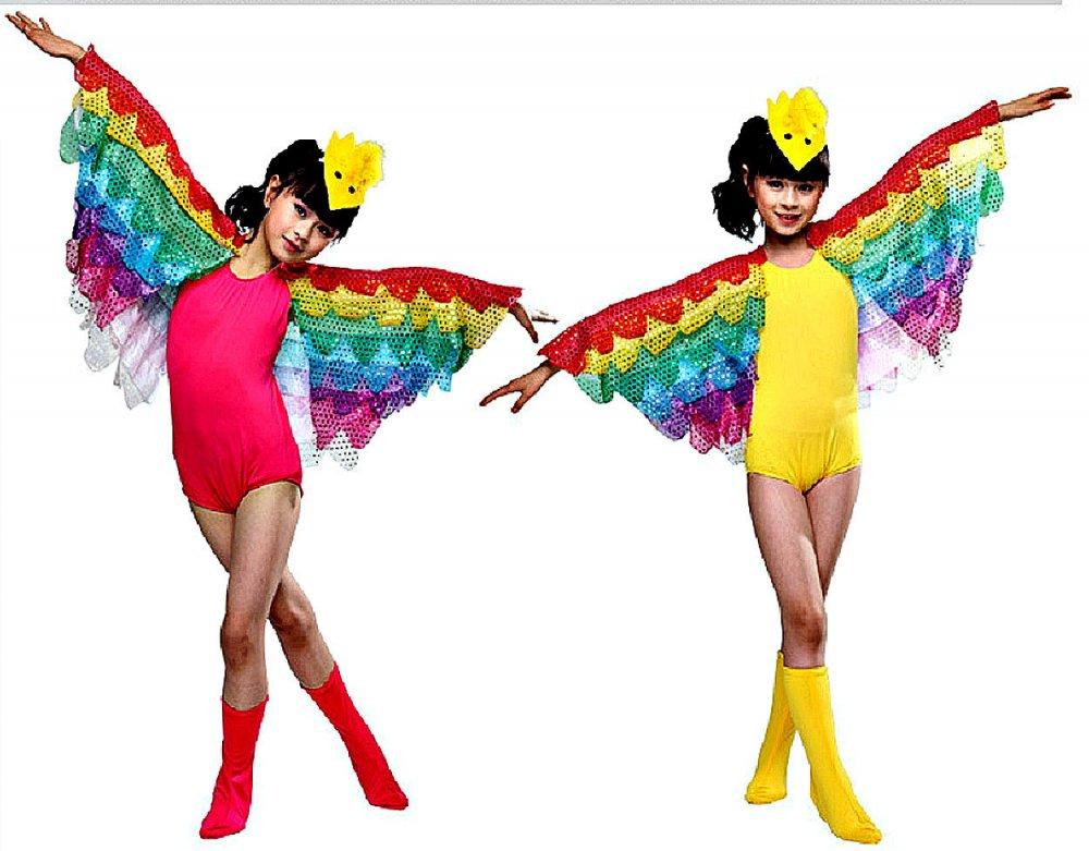Красочные костюмы (Птица ) для сцены (попугай).