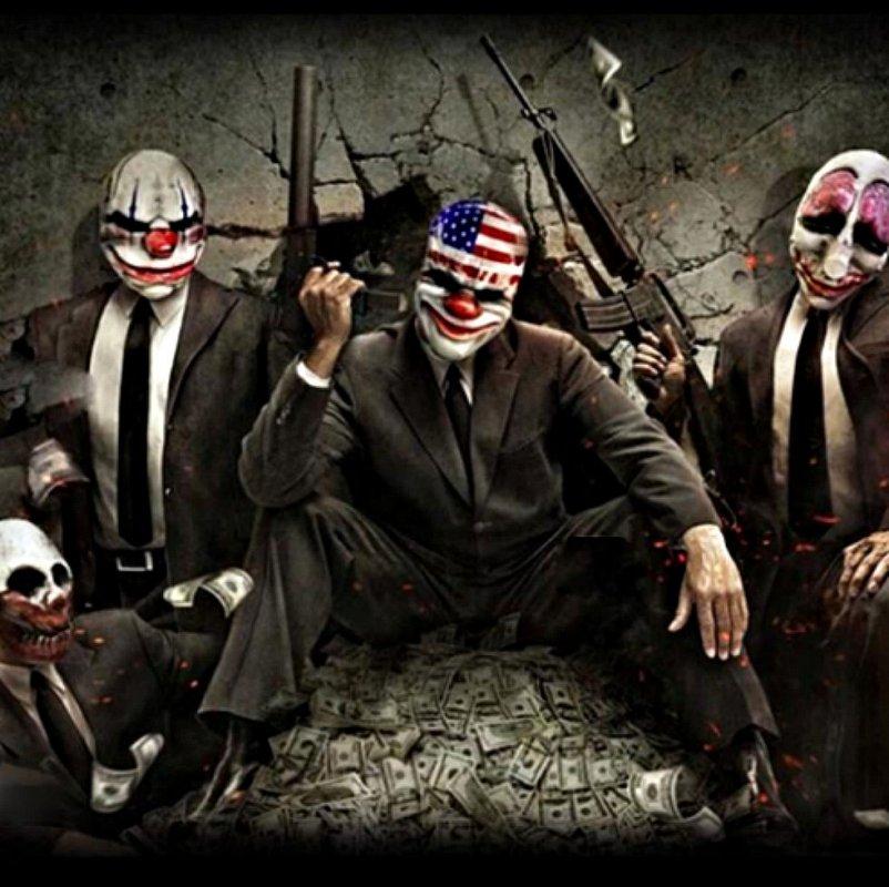Маскарадная маска-(Страшный Клоун)