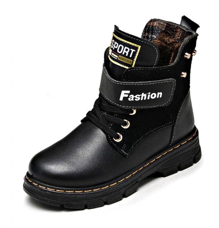 Кожаная водонепроницаемая зимняя обувь-(Yeafey)