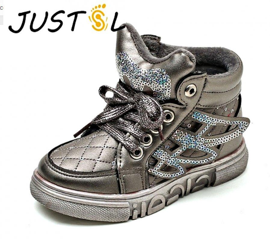 c63a146ba Модная, утепленная, зимняя детская обувь с блестками с утеплителем высокого  качества для мальчиков и
