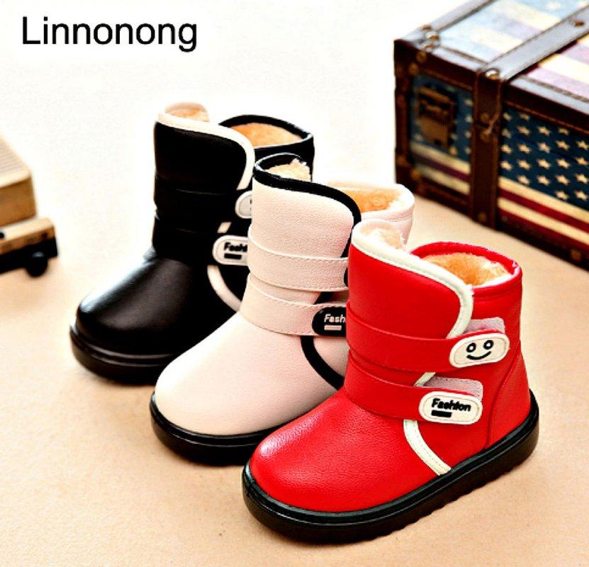 Модные, утепленные, противоскользящие, водонепроницаемые детская обувь