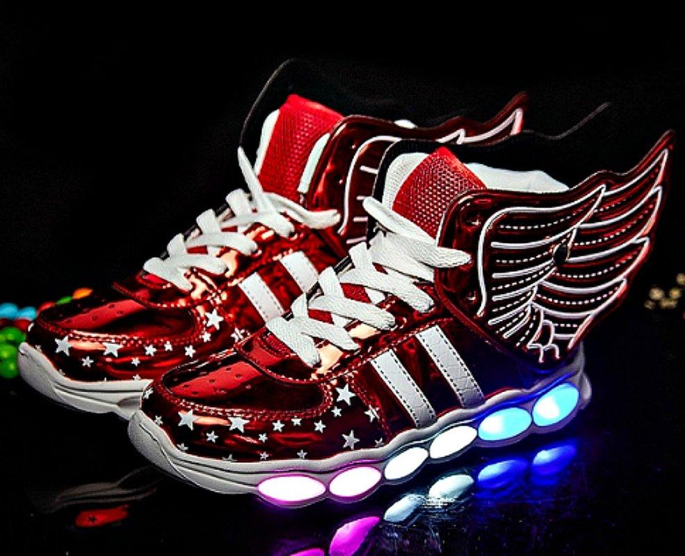 Спортивная светящаяся обувь-(Strongshen)./зарядка через USB/