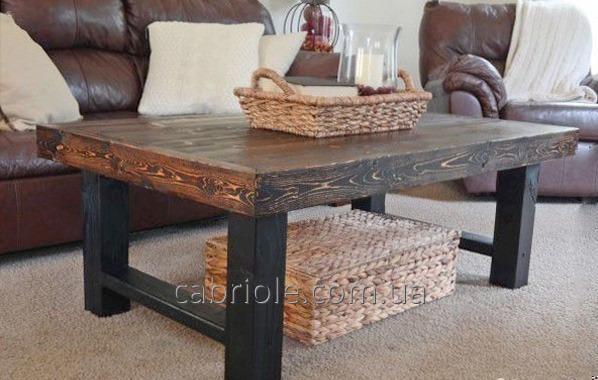 Журнальный столик в стиле лофт.