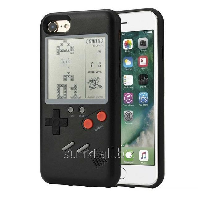 detailed look f1333 909fc Cover panel TETRIS CASE LAUDTEC WANLE for smartphones Apple iPhone 7/8 with  game Tetris Black (SUN91147)
