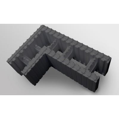 Купить Блок кутовий 750х500х250х250 із неопору