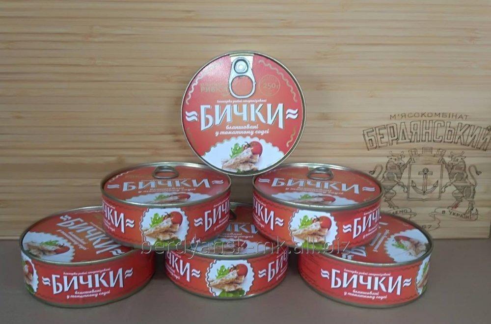 Бычок бланш. в томатном соусе (ключ)