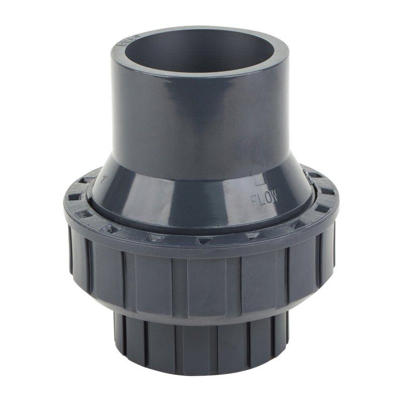 Обратный клапан ПВХ Ø75мм «ERA» пружинный (с задвижкой)