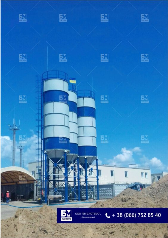 Cement silo at 120 tons, cement to 360 tons, storage containers, silos for the storage of bulk