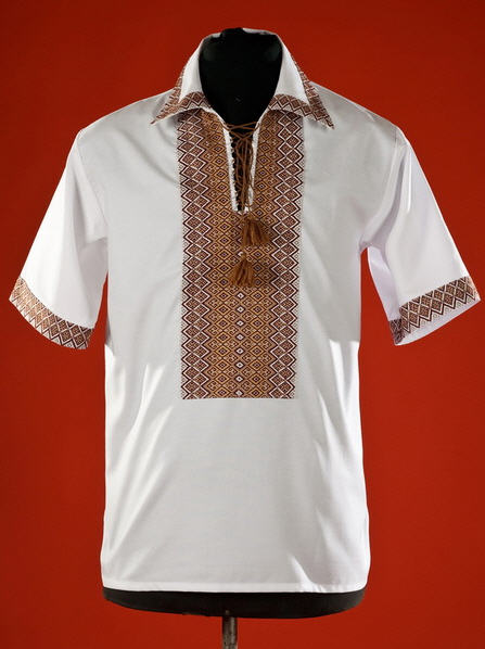 Сорочки, Мужская рубашка-вышиванка ЧС 15