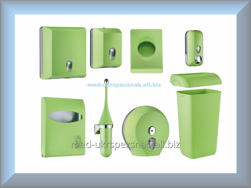 Набор для ванной и туалетной комнаты СOLORED Mar Plast, зеленый (Италия)