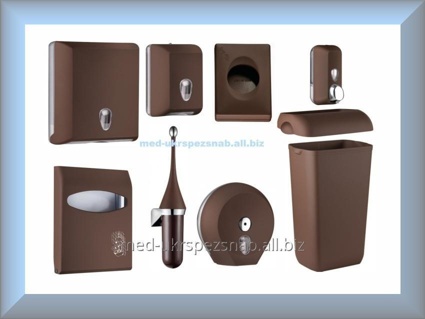 Buy Set for the bathroom and toilet rooms SOLORED Mar Plast, Brown (Italy)