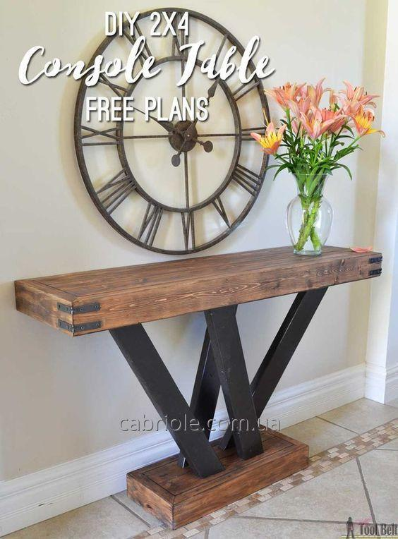 Консольный столик в лофт стиле