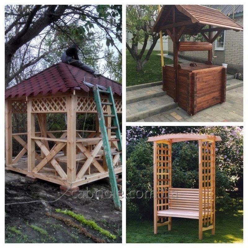 Мебель для сада деревянная
