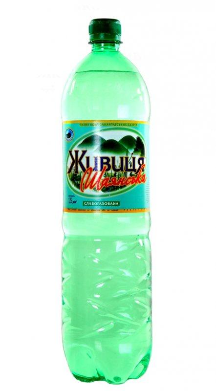 """Питьевая вода """"Живица Шаянськая"""" 1.5 л слабогазированная"""