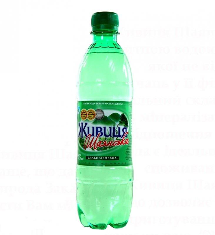 """Питьевая вода """"Живица Шаянськая"""" 0.5 л слабогазированная"""