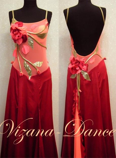 Платье в цветок из атласа