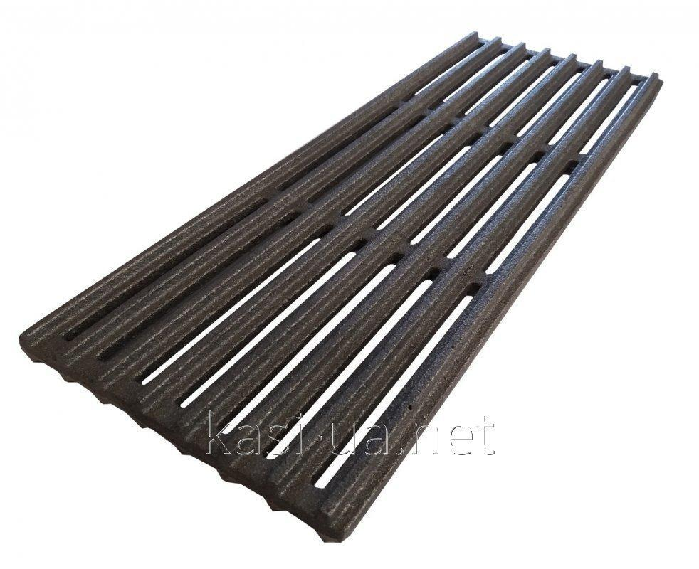 Решетка чугунная гриль-барбекю 155 х 400 мм.