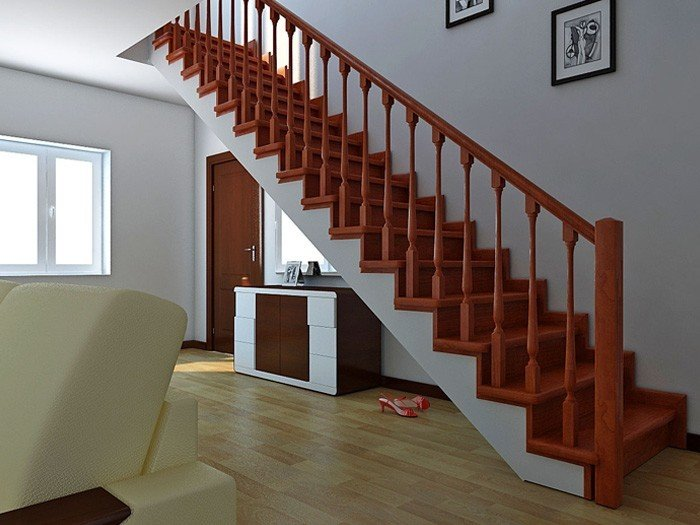 Buy Stairs made of natural wood Direct