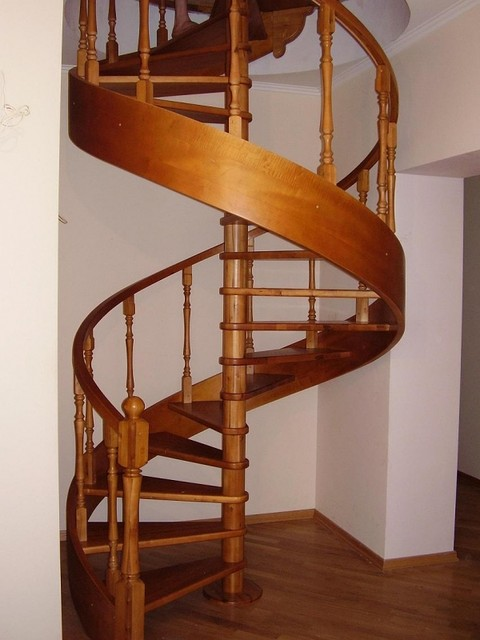 Buy SCREW massive wooden staircase.
