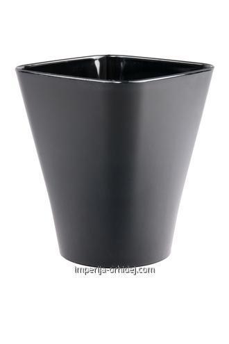 Кашпо для Орхидей Квадро, черный d 130 mm