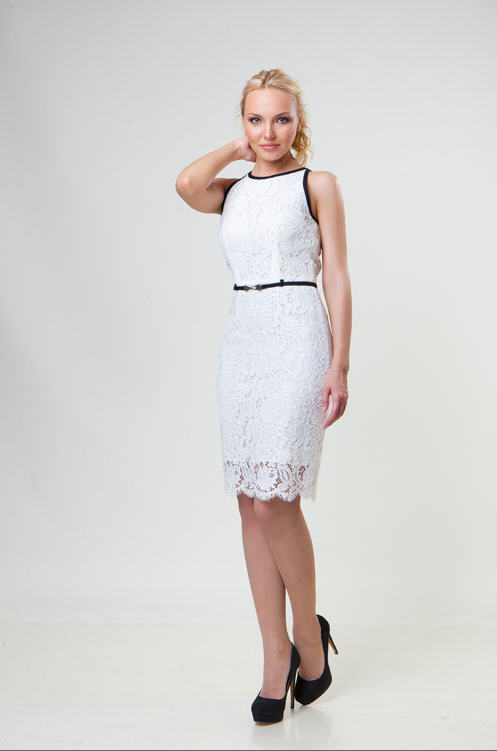 0efd0df0192a19 Елегантне плаття біле з розрізом купити в Дніпро