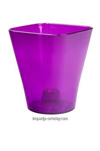 Кашпо для Орхидей Квадро, фиолетовый d170 mm