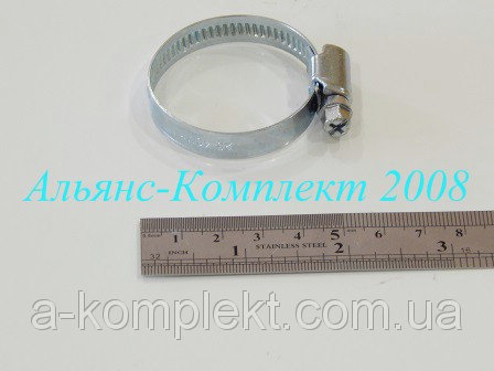 Хомут стяжной 25-40 червячный (оцинкованный) (радиатор)