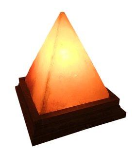Лампа Пирамида из розовой гималайской соли