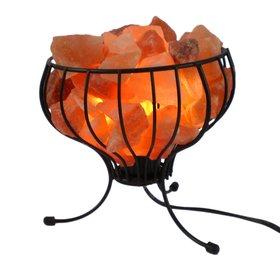 Соляная лампа в форме корзины