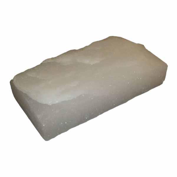 Соляной камень гималайский белый, с естественными сколами 20x10x5 см.