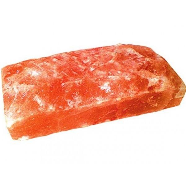 Соляной камень гималайский, с естественными сколами 20x10x5 см.