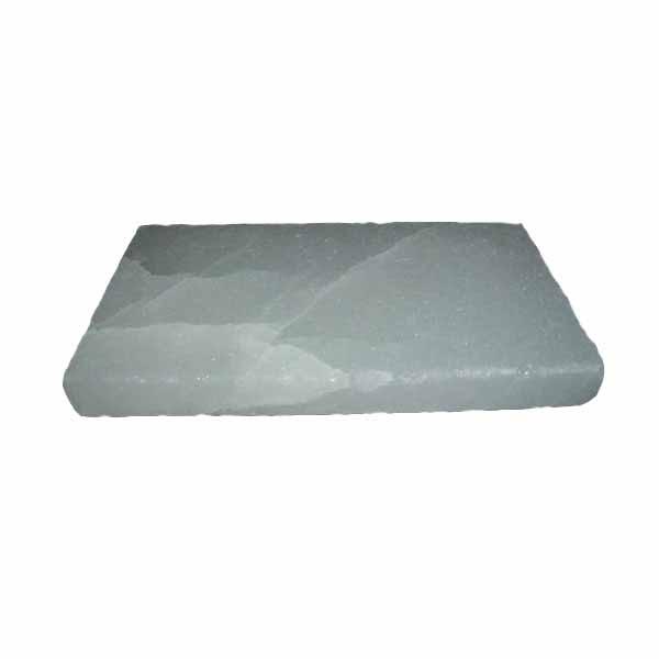 Плитка из соляного камня белая, 20x10x2 см.