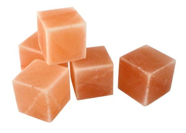Оригинальный гималайский соляной камень, куб 5x5x5 см.