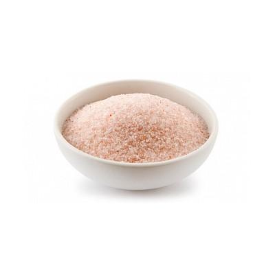 Гималайская розовая соль пудра 1 кг для бани и сауны