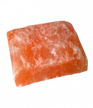 Гималайская розовая соль Кирпич Рваный камень 20/20/5 см для бани и сауны