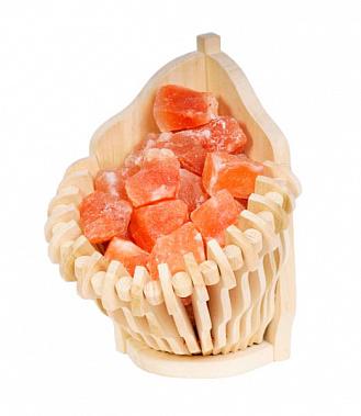 Гималайская розовая соль Корзина угловая 4,5 кг для бани и сауны